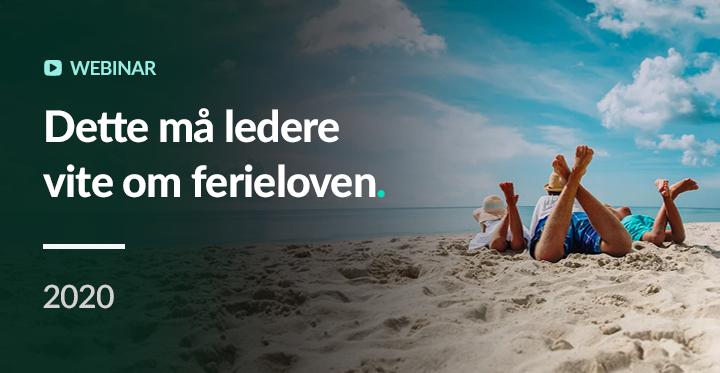 Dette må ledere vite om ferie - SoMe Webinar - opptak