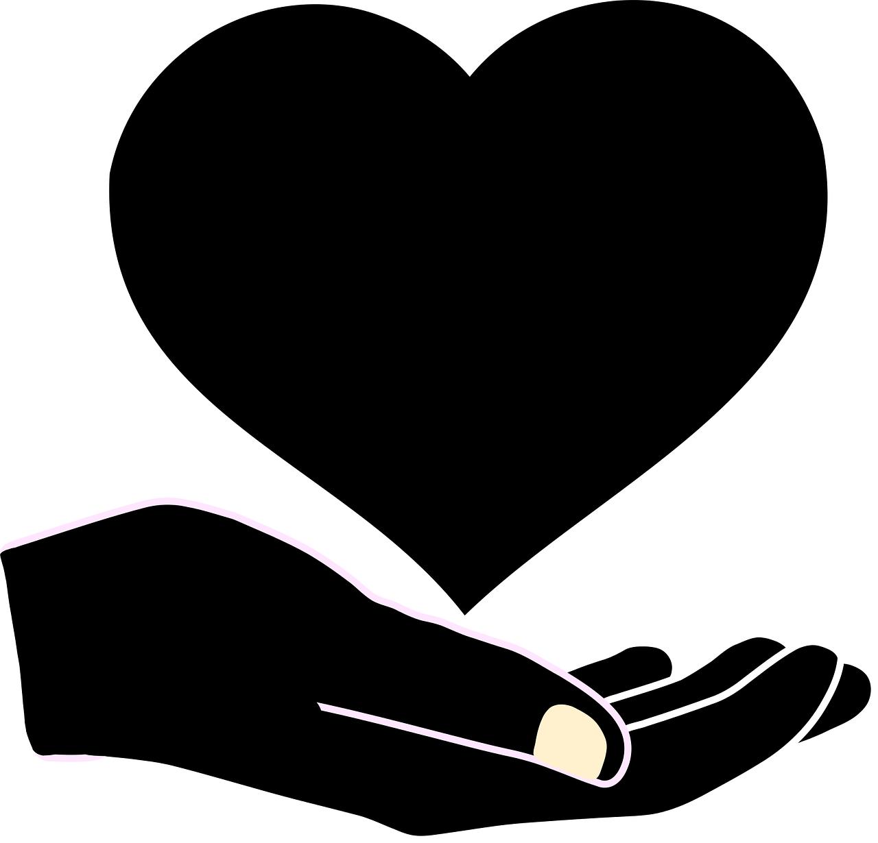 illustrasjon av et hjerte i en hånd som symboliserer at vi holder vår egen helse.png
