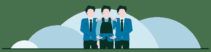 Spot illustrasjon-RGB_Samarbeid-teamwork